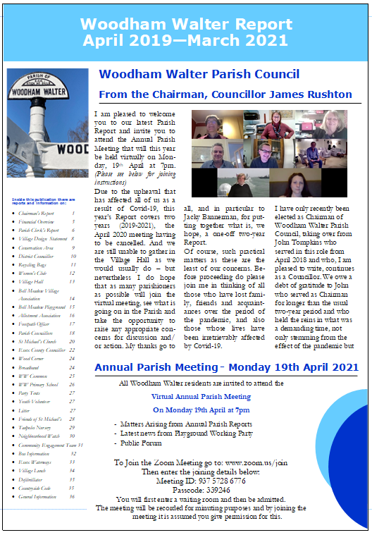 Annual Parish Report 2019-2021
