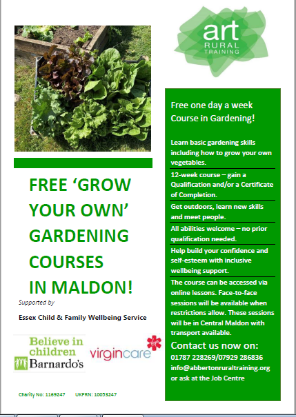 Grow your own gardening course in Maldon District