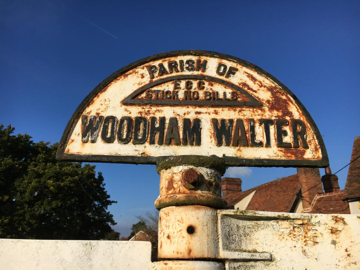 Woodham Walter Sign at Bell Junction
