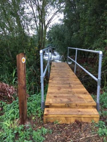 Photo of new bridge on new footpath